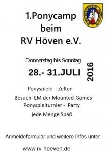 Plakat Ponycamp
